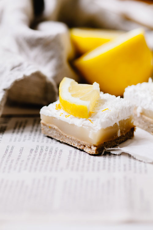 lemon bar slice