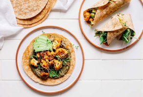 Smoky Cauliflower and Black Bean Hummus Burritos | Brewing Happiness