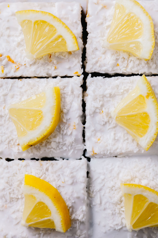 6 lemon squares