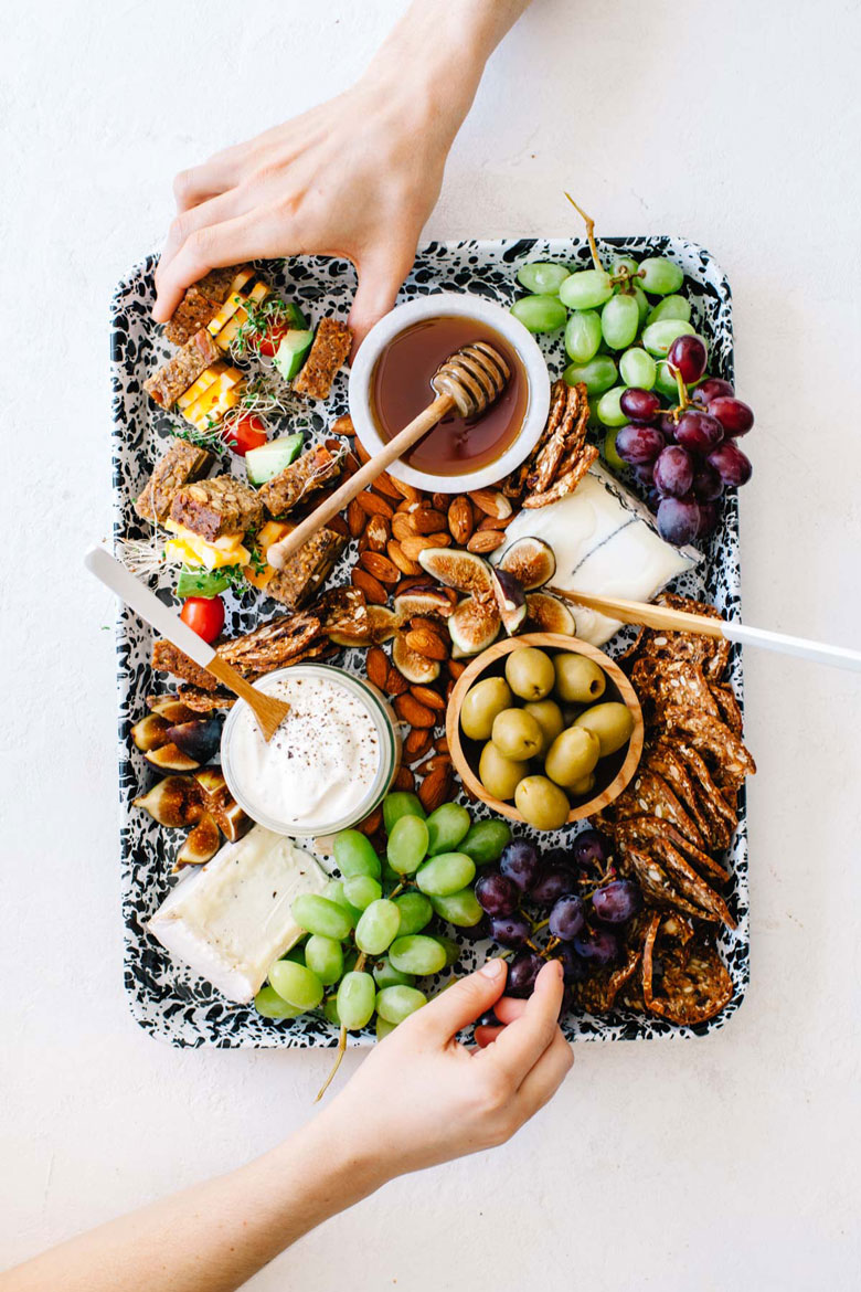 California Dreaming Cheese Board from Platters and Boards Cookbook #cheeseboard #healthy #california | Brewing Happiness