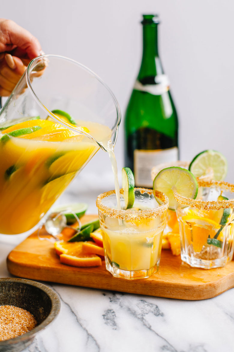 Margarita Mimosas #margaritaweek | Brewing Happiness