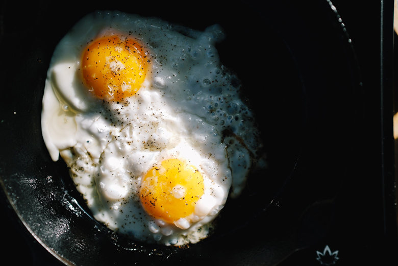 eggs in a skillet