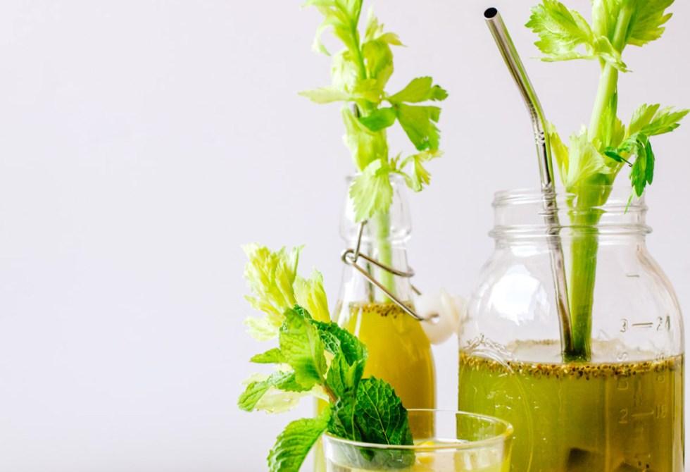 Turmeric Celery Chia Water