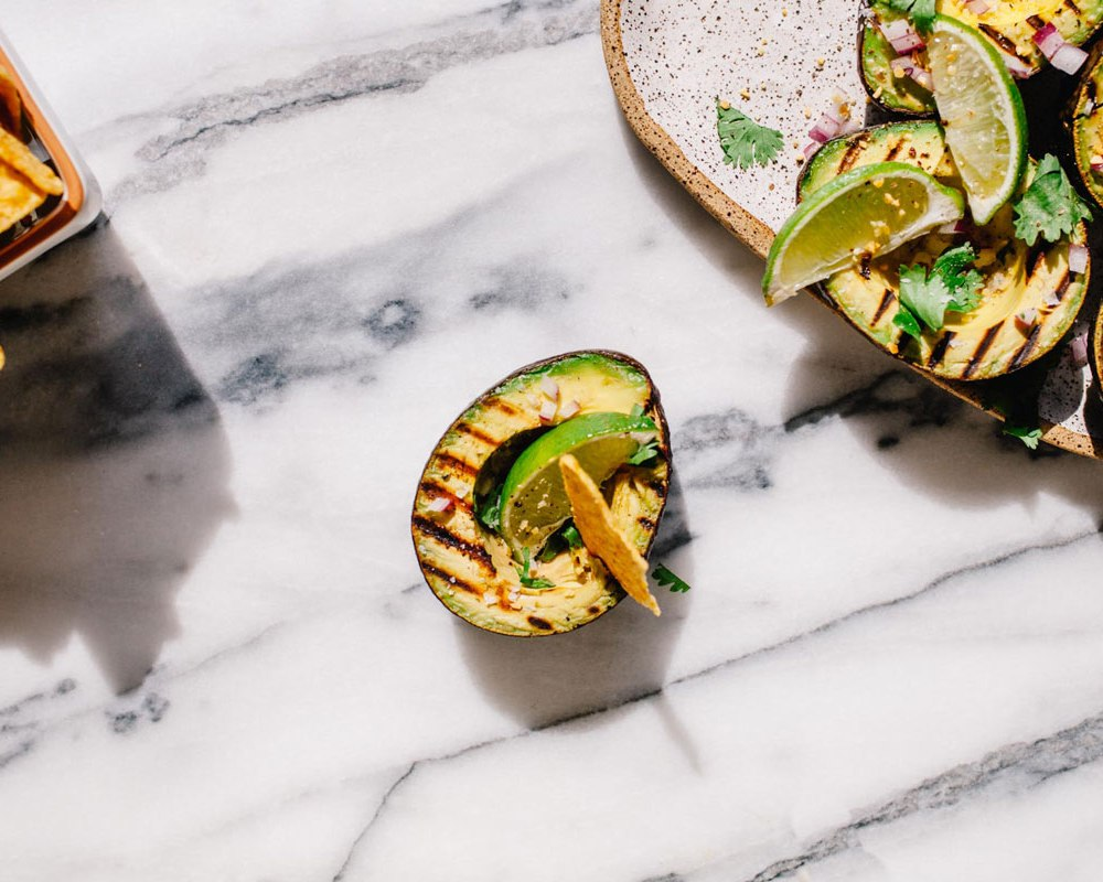 Grilled Handheld Guacamole