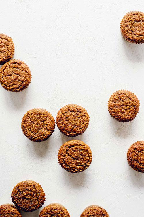 unfrosted coconut quinoa cupcakes
