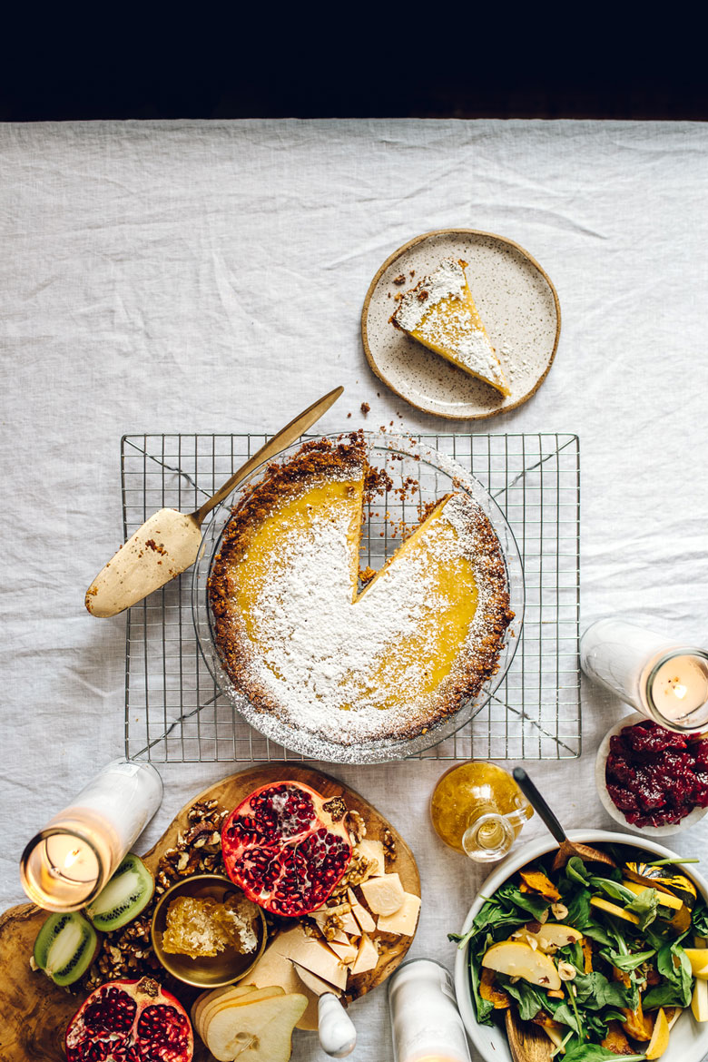 Healthyish Crack Pie #recipe #pie #crackpie #holiday #healthy | Brewing Happiness
