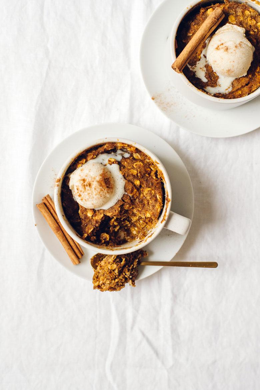 5-Minute Microwave Pumpkin Muffin