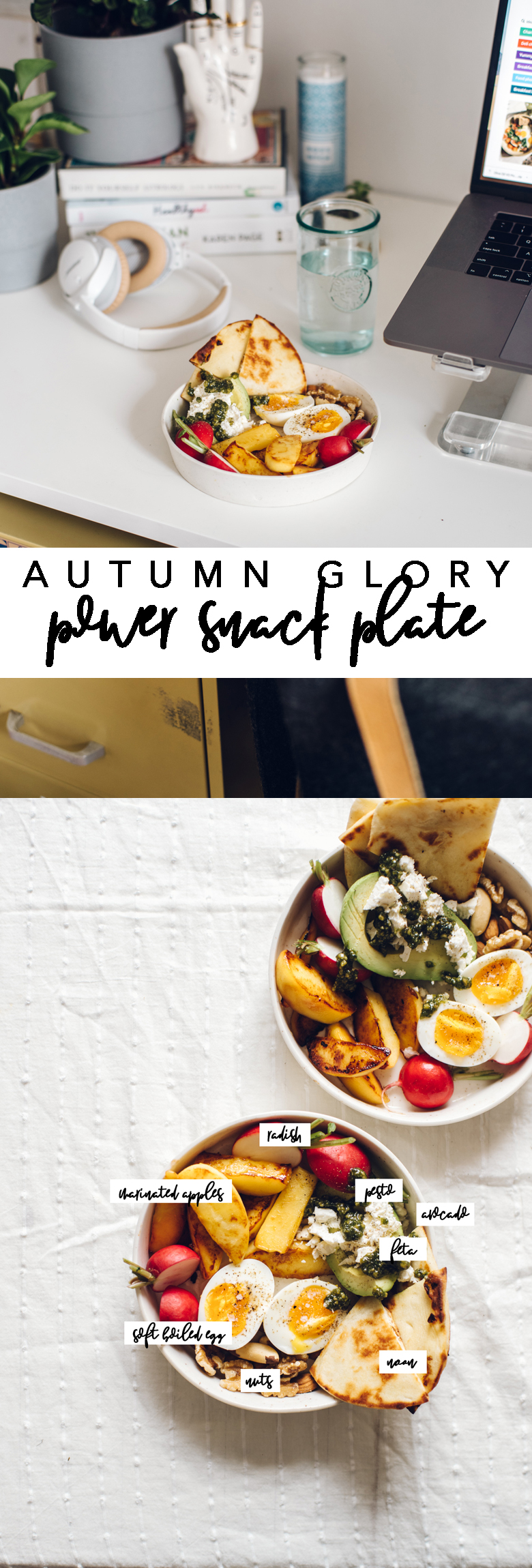 This Autumn Glory Power Snack Plate is a unique, savory snack dish that is packed with healthy fats and protein to keep you satisfied when you need it most! #apples #snack #snackplate #healthy #healthyfats #avocado #autumnglory   Brewing Happiness