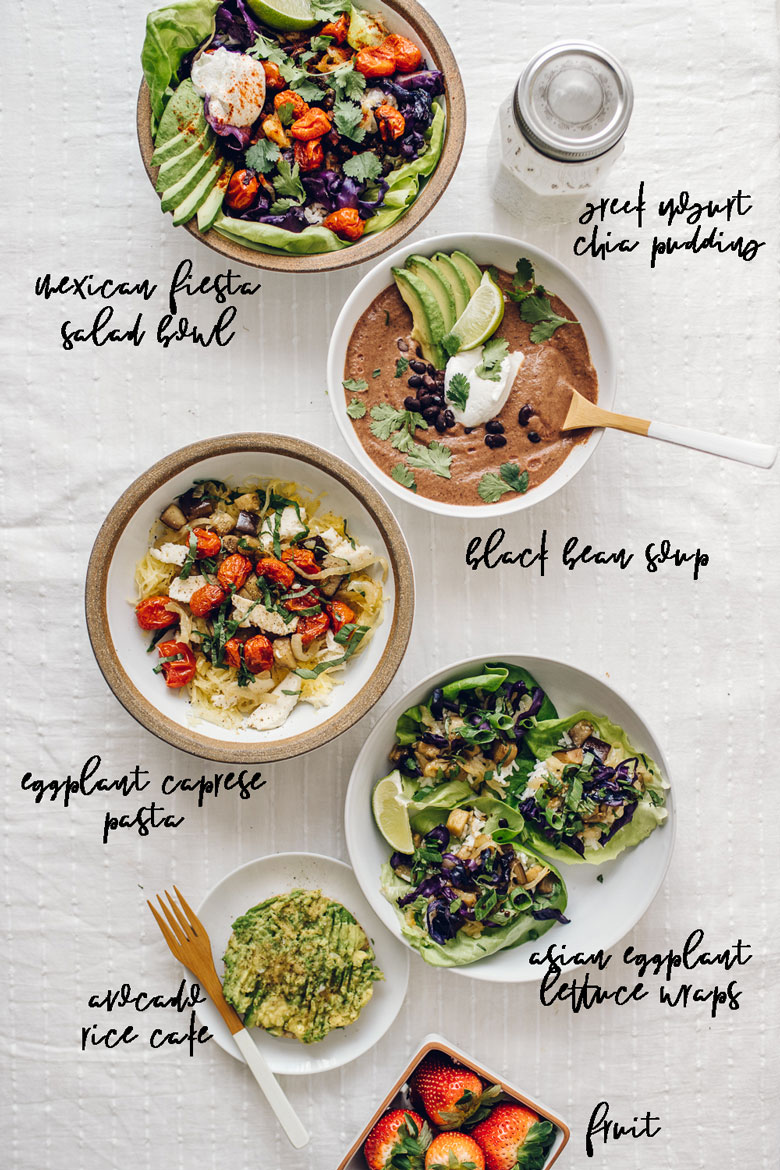 Creative Vegetarian Meal Prep Guide with tons of meal options so you never get bored! | Brewing Happiness