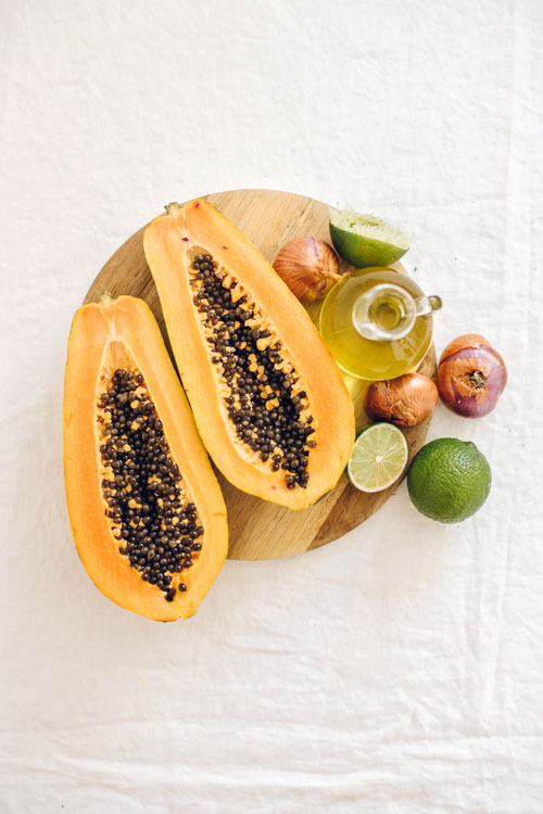 Papaya Seed Dressing Ingredients