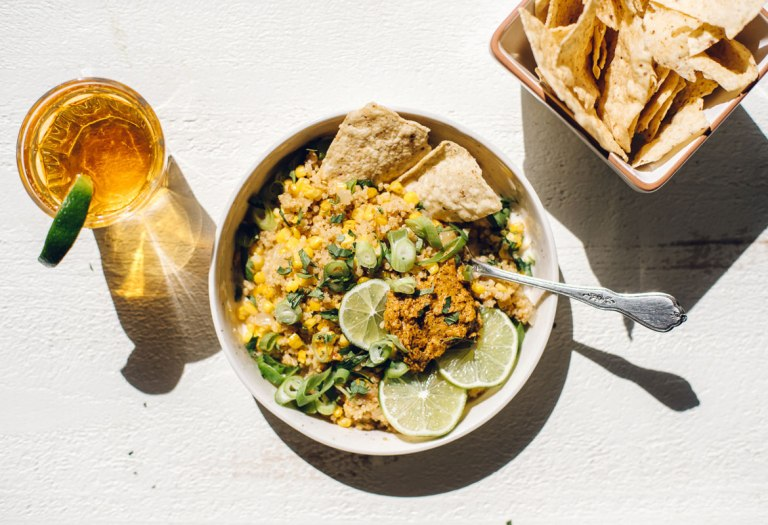 Mexican Street Corn & Quinoa Bowl | Brewing Happiness