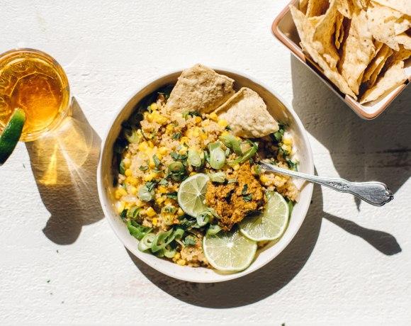 Mexican Street Corn & Quinoa Bowl | Brewing Happiness
