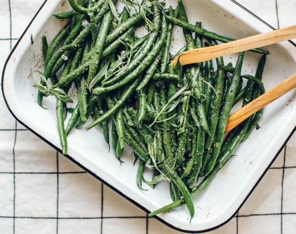 Tarragon Mustard Green Beans | Brewing Happiness