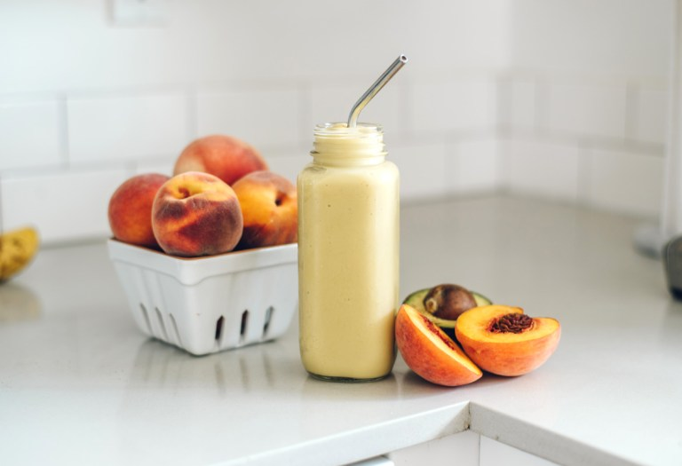 Paleo Peach Smoothie | Brewing Happiness
