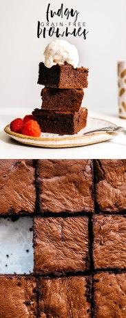 Fudgy Grain Free Brownies #grainfree #glutenfree #ghee #brownies | Brewing Happiness