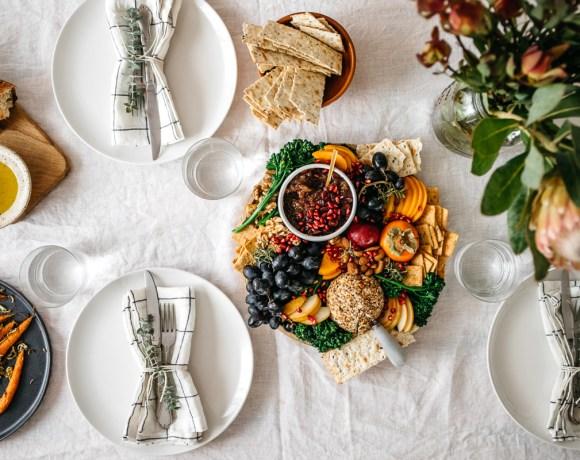 Holiday Vegan Cheese Ball Platter   Brewing Happiness