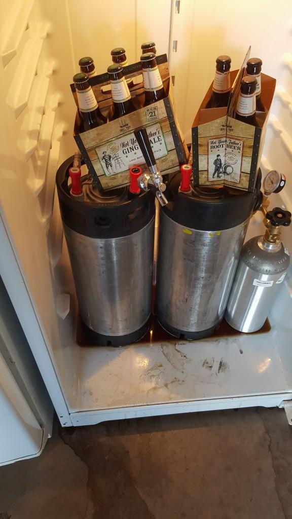 Kegs bathing in their own beer...