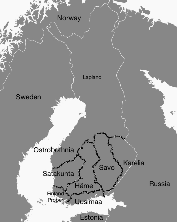 Historic provinces of Finland