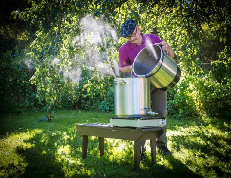 Brewing Sahti in the Garden