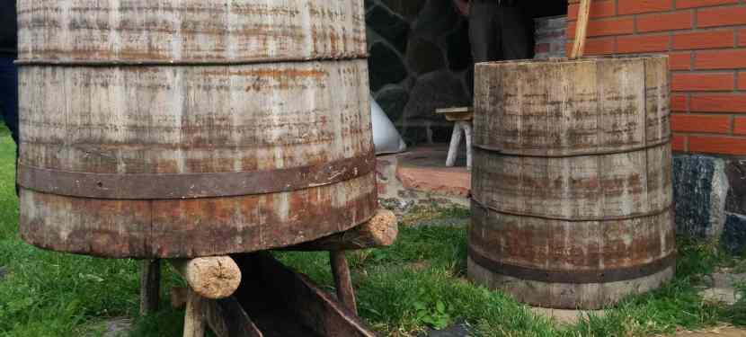 Vats for brewing Estonian koduolu