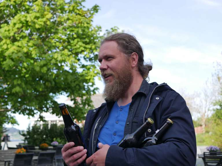 Jørn Anderssen, the brewmaster of Klåstergården