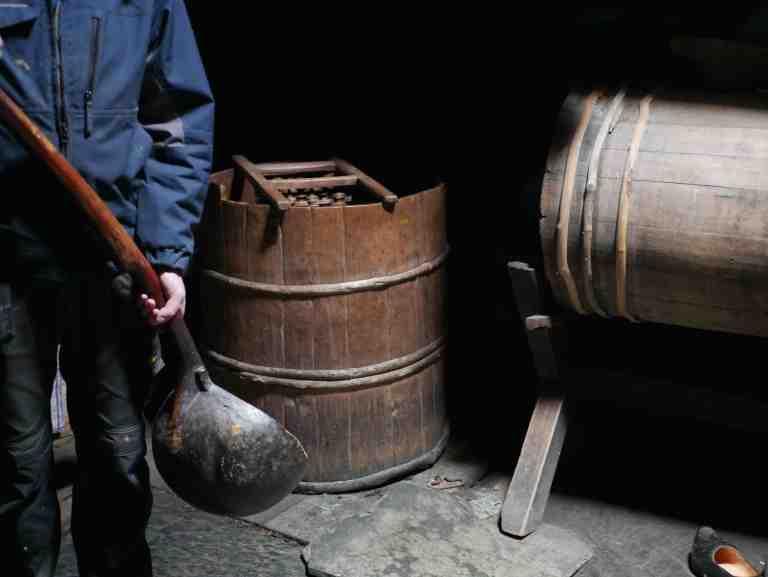 Farmhouse brewing vats in Voss Folkemuseum