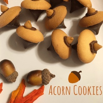 Acorn Cookies! Check out full recipe httpswwwbrewingwisdomcom20171030acorncandycookies