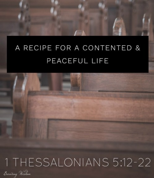 Contented Peaceful Life: Church Pews