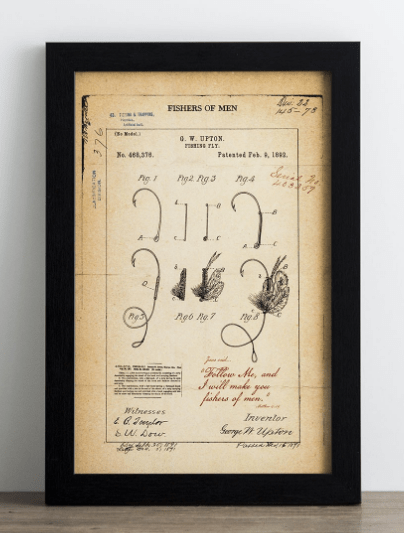 ... Look From Days Gone By, This U0027Fishers Of Menu0027 Christian Patent Framed  Art Will Gracefully Add A Touch Of Yesterday To Your Todayu0027s Home Or Office  Décor.