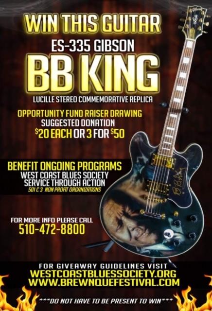 WIN A BB KING COMMEMORATIVE GUITAR - Brew N Que Festival