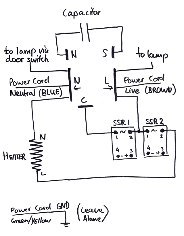 wiring diagram for a electrolux 3 way fridge pride mobility scooter hacking guide converting fermenting beer brewpi and this is how the hacked connected