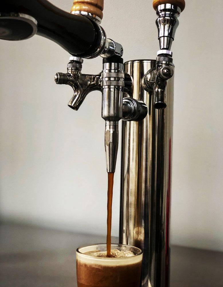 Nitro cold brew keg