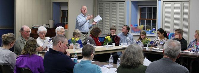 Pastor Doug speaking at the new member seminar