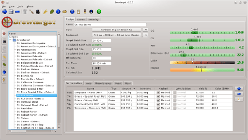 Brewtarget: free brewing software.
