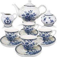 BTT  Tea Set, China Tea Set, Tea Service, Tea Cups (8oz ...