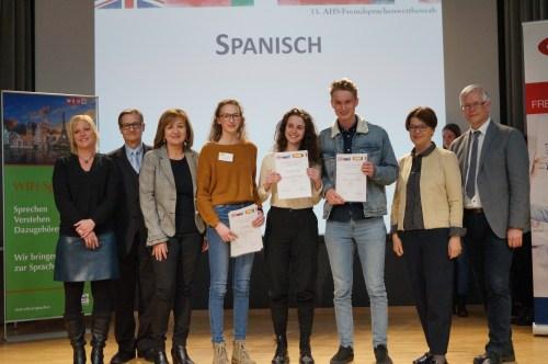 Sieger/innen beim Fremdsprachenwettbewerb