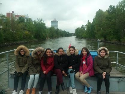 Auf der Fahrt durch den Donaukanal