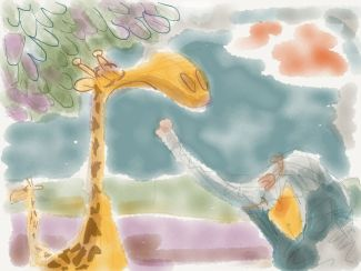 "Story: ""Snooty Giraffe and Elly Fint"""