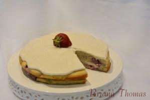 Strawberry Pudding Cake