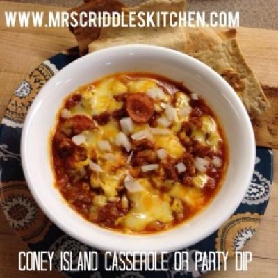 Coney Island Casserole or Party Dip