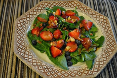 Very Berry Salad with Dijon Balsamic Vinaigrette