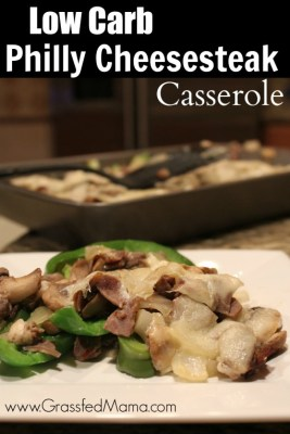 Low Carb Philly Cheesesteak Casserole