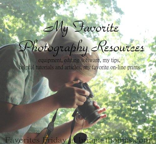 MyFavoritePhotographyResources