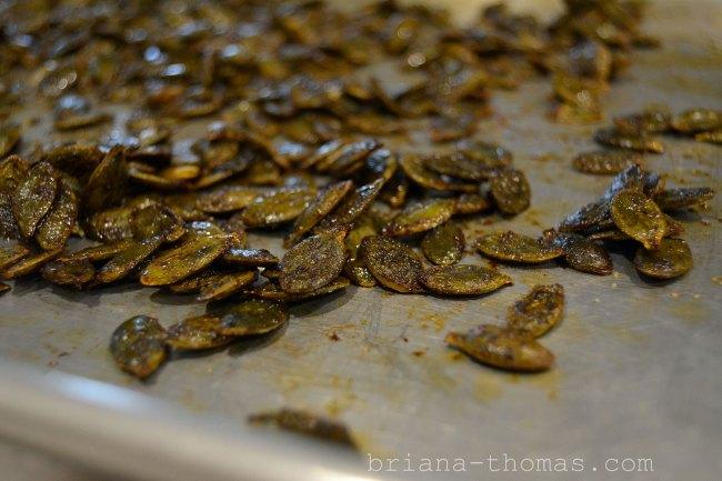 BBQ Roasted Pumpkin Seeds