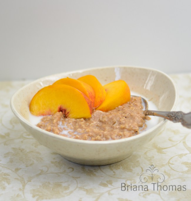 Peach Spice Overnight Oatmeal