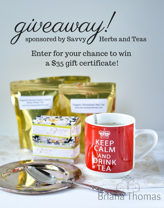 Savvy Herbs and Teas Review and Giveaway