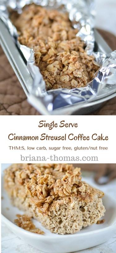 Single Serve Cinnamon Streusel Coffee Cake