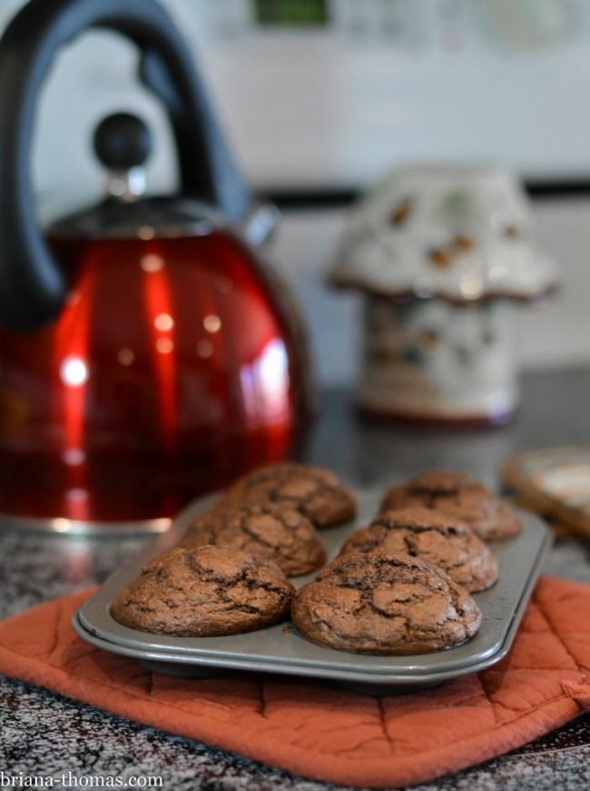 Chocolate Mini Donuts with Ganache Glaze