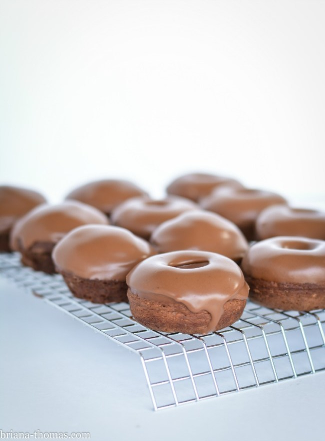 Chocolate Mini Donuts with Ganache Glaze