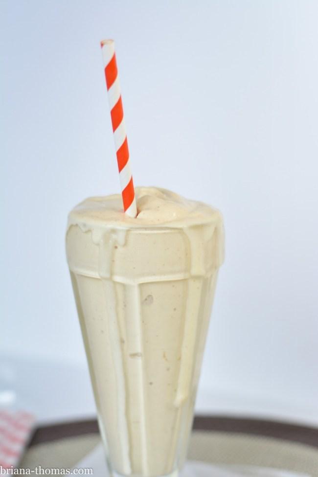 Real Peanut Butter Milkshake